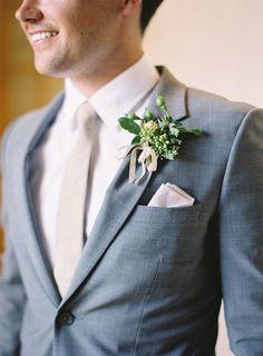 Gray suit for a Summer wedding. | Al Fresco Wedding in Santa Ynez via http://www.stylemepretty.com/2014/03/12/al-fresco-wedding-in-santa-ynez/