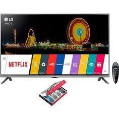 """Americanas Smart TV LED 3D 42"""" LG 42LF6400 Full HD HDMI 3 USB Wi-Fi + 4 Óculos 3D - R$ 1879 boleto/ cartão Am."""