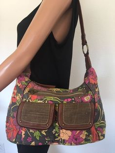 Sakroots Bag Jute Cotton Peace Floral Bohemian Hip Designer Fashion Purse  #Sakroots #ShoulderBag