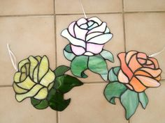 Rose Suncatcher by BRGlassWorks on Etsy