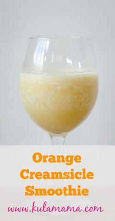 Immune Boosting Orange Creamsicle Smoothie by www.kulamama.com