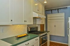 Portland Heights Area Residential: Kitchen With White Cabinets and Built-Ins