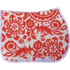 Coral Swirl Saddle Pad - USA MADE - Novelty English Saddle Pads