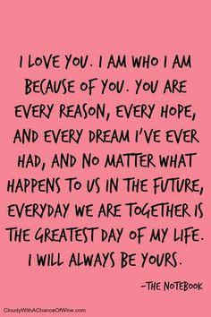 Je t'appartiens, corps et âme pour toujours, chaque seconde de tous les jours que je vis. Je t'aime. Tu es Tout ! XO my love.