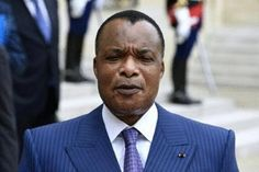 President Denis Sassou Nguesso gives a press briefing after a meeting with his French counterpart at the Elysee Palace in Paris on July 7, 2015/AFP