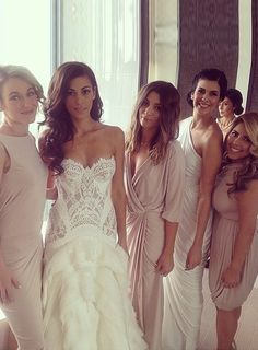 We are so in love with the pics from our bride Rebecca Riggio's wedding! Rebecca and her bridesmaids looked absolutely amazing on her special day! Bridesmaids wore five different styles by Pia Gladys Perey in alternate colours – Old Nude & Ivory. #wedding
