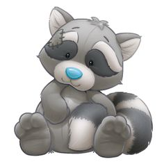 Roger the resourceful Raccoon loves to help out friends and can find a fix for anything.