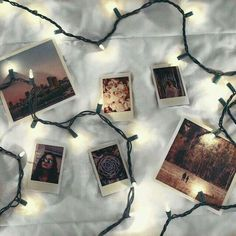Imagen de lights, photo, and polaroid