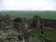 The Tardis from Doctor Who at Raglan Castle - Monmouthshire in south east Wales.