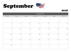 September 2018 Calendar USA With Holidays Dates 2018 Calendar Template, Excel Calendar, Monthly Calendars, Blank Calendar, Free Printable Calendar, September Calendar 2018, Calendar Wallpaper, Dates, Printables