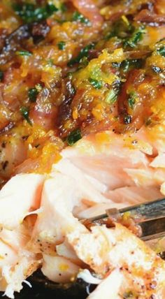 Grilled Salmon with Brown Butter Citrus Sauce
