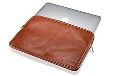 "KAVAJ sleeve leather case ""Sydney"" for Apple MacBook Pro Retina 13"" cognac brown"