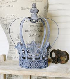 Crown Candle Holder Metal Crown Shabby Chic by ColorfulCastAndCrew
