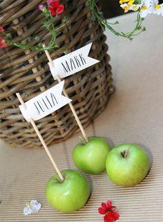 Tischkarten für die Hochzeitstafel