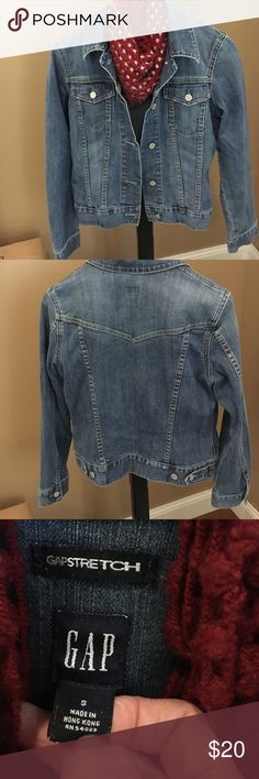 Gap Jean Jacket Gap Stretch Jean jacket. Excellent condition. This is a roomy size small. GAP Jackets & Coats Jean Jackets