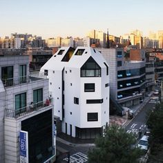 'white house' designed by south korean architectual firm yoap