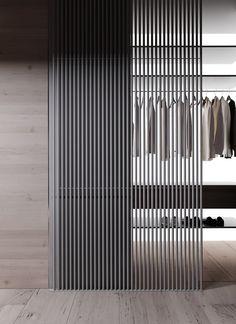 Project HD on Behance Bedroom Closet Design, Wardrobe Design, Partition Design, Interior Architecture, Interior Design, Home Remodeling, Decor Styles, New Homes, House Design