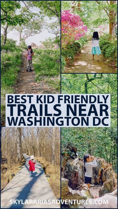 best kid friendly trails in the Washington DC, Maryland, and the Virginia area. I share some of our favorite family hikes. #washingtondc #familyhike #hikewithkids #roadtrip #visitusa #roadtripamerica #travelwithkids