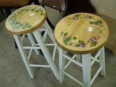 hand painted bar stools