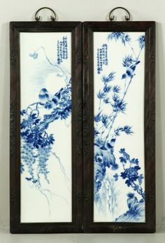 Antique Porcelain Wall Panels From China Asian Art In