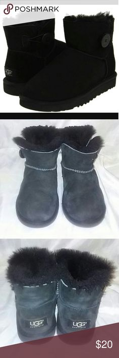 UGG Mini Bailey button boots Worn but in good condition UGG Shoes Boots