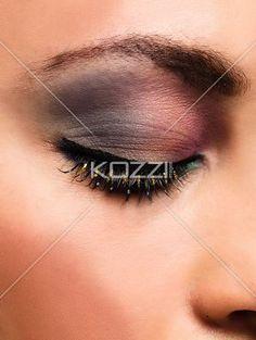 eye make up. - Close=-up of young woman's eye make up, MUA: Irene Prowell
