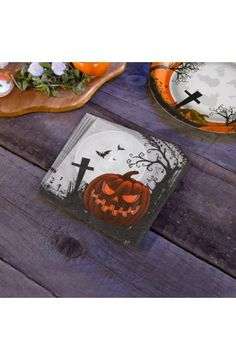 Pack 20 Graveyard Gathering Napkins -  Perfect for a Adult or Teenage party matching tableware and decorations available.