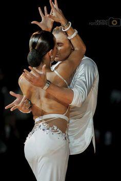 Dancesport ♡ beautiful white latin dress