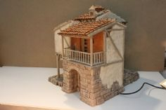 Pin by Juan sole on Casas para belenes Cement Art, Christmas Nativity Scene, Barbie House, Miniature Houses, Little Houses, Clay Art, Life Is Good, Projects To Try, Bird