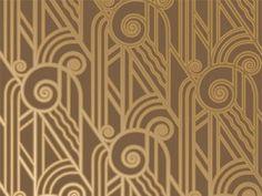 Gold Art Deco Pattern Wallpaper