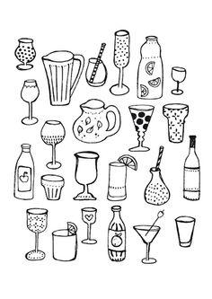 Sjoesjoe drinks illustration