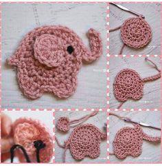 Free Crochet Pattern: Elephant Appliqué - Natalina Craft | 241x236