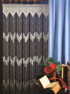 rideaux en crochet sur pinterest filet crochet crochet. Black Bedroom Furniture Sets. Home Design Ideas