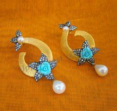 Zircon Turquoise Earrings