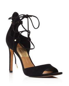 Dolce Vita Hazeley Peep Toe Lace Up High Heel Sandals | Bloomingdale's
