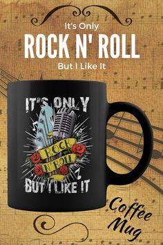Its Only Rock N Roll But I Like It Retro Coffee Mug – Cherry's Rockabilly