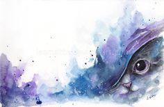 watercolor cat #2 by leamatte.deviantart.com on @deviantART