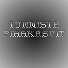Tunnista pihakasvit. Science And Nature, Company Logo, Coding, Science And Nature Books, Programming