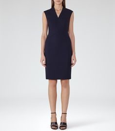 Womens Night Navy Tailored Dress - Reiss Delo Dress