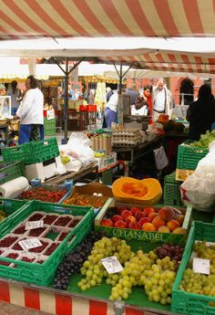 Basel Saturday Market in the old town, Switzerland