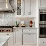 black and grey kitchen for the home pinterest iridescent tile