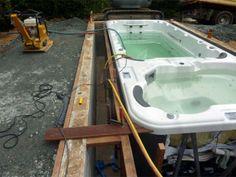 Installation, Construction, Aménagement, Livraison d'un spa de nage White Water - PISCINE ET JARDIN Nord