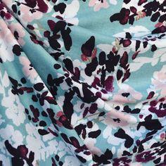 97e49689fa9 Brushstroke Floral Jersey Knit Teal/Plum - Fabric - Style Maker Fabrics  Blush Flowers,