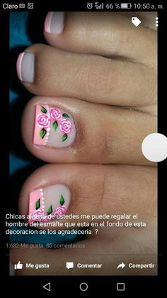 Uñas lindas Pedicure Designs, Pedicure Nail Art, Toe Nail Designs, Toe Nail Art, Colorful Nail Designs, Beautiful Nail Designs, Hair And Nails, My Nails, Magic Nails