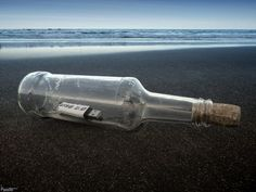 message in a bottle, 21st-century edition