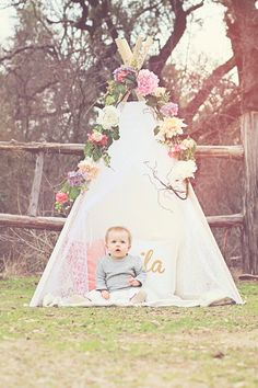 Mila's First Birthday - Floral Teepee - Woodland Unicorn - Cake Smash (Princess Cake Smash) Baby Girl First Birthday, Unicorn Birthday Parties, First Birthday Parties, First Birthdays, Birthday Presents, 1st Birthday Pictures, Birthday Ideas, Deco, Cake Smash