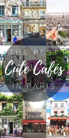 the best cute cafés in Paris, France!