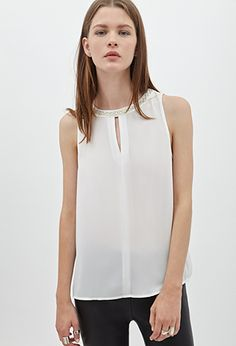 Beaded Chiffon Top | Forever21 - 2000102783