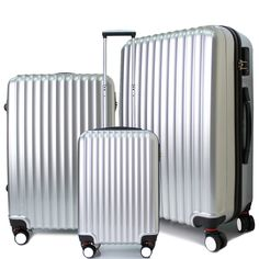 Very nice luggage set!  http://www.ebay.com/itm/Travel-Luggage-8-Wheel-Spinner-Trolley-Hard-Shell-Suitcase-6-Color-20-24-28-inch-/252400770467?rd=1