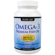 Madre Labs Omega-3 Premium Fish Oil on #iHerb 25% + $5 OFF - now $0,99 #RT #vegan #dietary Discount applied in cart